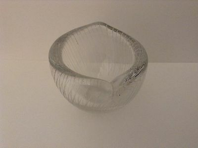 Tapio Wirkkala for littala Finland / etched glass vase / Signed and Dated 1955