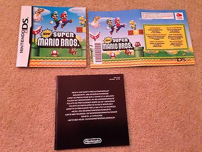 Mint - New Super Mario Bros - Nintendo DS - Manual Only (no Game)