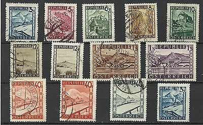Austria 1945/47 Landscapes Used Collection Stamps