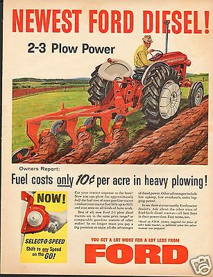 1959 Ford 681 Select-O-Speed Farm Tractor LARGE Print Ad
