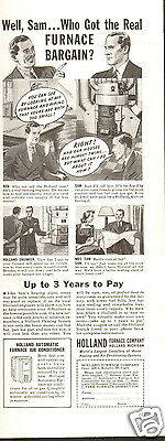 1940 Holland Furnace Co Print Ad