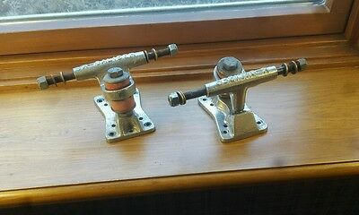 Vintage skateboard trucks X-Caliber 70's old school all 8 axle washers