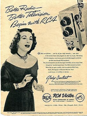 1945 RCA Victor Gladys Swarthout Better Radio Better Television Print Ad