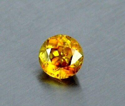 IF 1.35 Ct, 6x6 mm, Top Quality Redish Fire Multi Color Natural Titanite Sphene