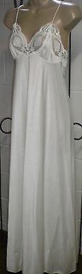 Vintage Rosa Puleo-Szule Lily of France Ivory Nightgown Floral Lace Size M