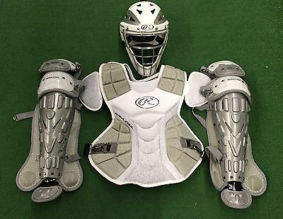 Rawlings Velo Youth Catcher's Gear Set - White Grey