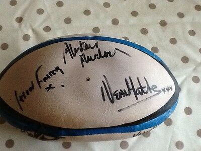 Signed Gilbert ball,x 15 players Bedford Blues RUFC 1990's