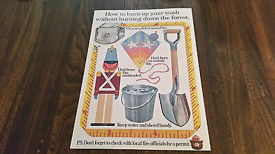 Smokey The Bear Poster Sign How To Burn Your Trash Without Burning Down Forrest