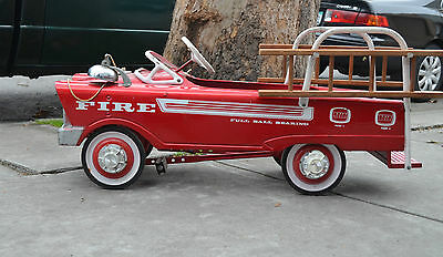 1950's Fire Truck Pedal Car with Original Ladders! Great Gift for the Holidays