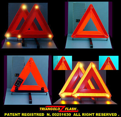 Triangolo autoferma lampeggiante mod. S Light  (LED EMERGENCY TRIANGLE)