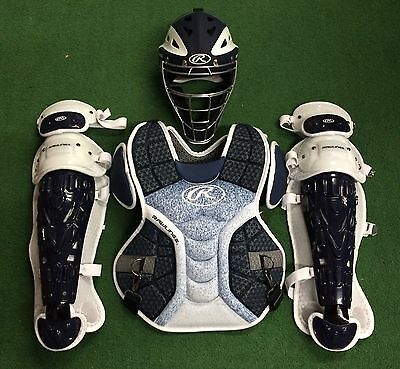 Rawlings Velo Youth Catcher's Gear Set - Navy White