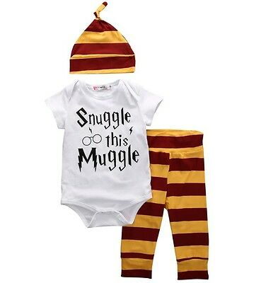 3 Piece Set Snuggle This Muggle Baby Onesie And Pants