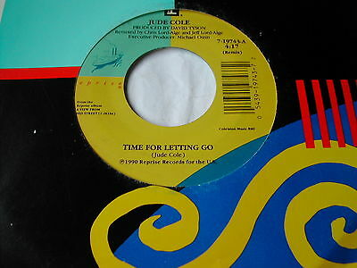 """Jude Cole - Time For Letting Go - Reprise 7"""" Us"""