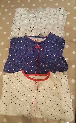 Next baby girl sleepsuits 12-18months