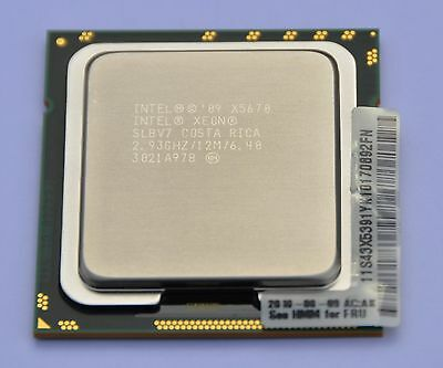 Intel Xeon X5670 2.93GHz, SLBV7, 6 Core, 12M Cache, 6.40 GT/s - MATCHED PAIRS AV
