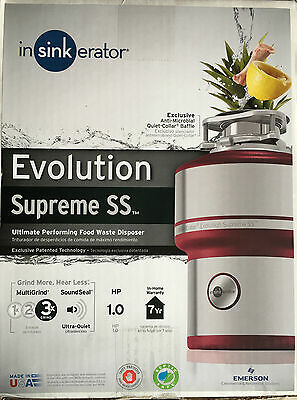 Brand New Evolution Supreme Stailess Steel 1 Hp Continuous Feed Garbage Disposal