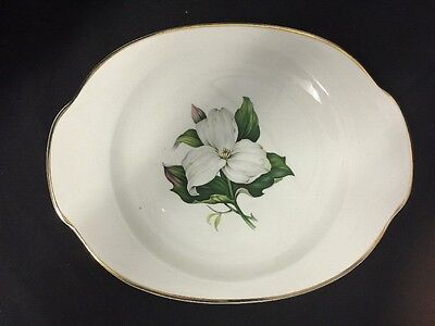 "Vintage 12"" Platter TRILLIUM Glamour by American Limoges China Co. EASTER SPRING"