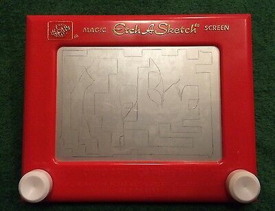 Vintage Ohio Art - Magic Etch A Sketch Screen - The World of Toys No 505 NICE!