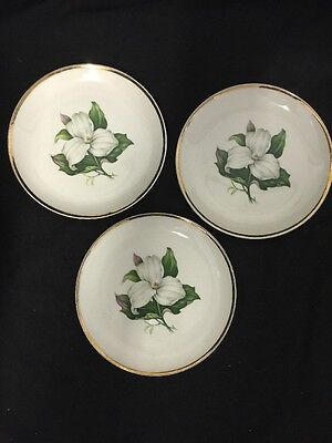 3 Vintage Bread and Butter Plates TRILLIUM Glamour - American Limoges China Co.