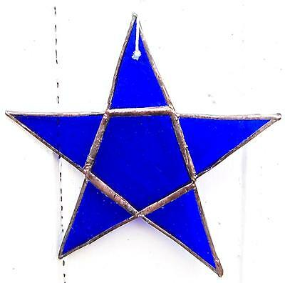 Stained Glass Star. Blue. Hand made at Rumpus.