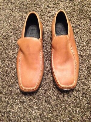 NEW Lambretta brown/tan leather slip-on shoes Uk Size 8 (41)