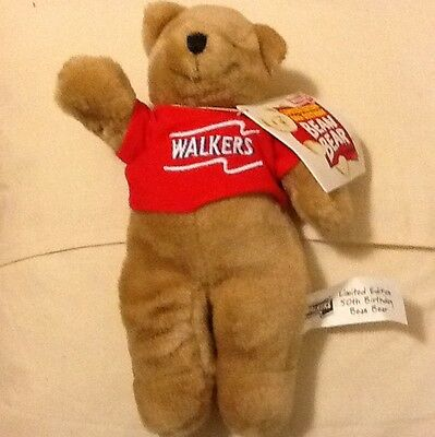 Walkers limited Edition 50th Birthday Bean Bear. NEW