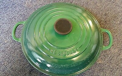 Le Creuset Cast Iron Shallow Casserole Dish and lid  -  No 26. Used