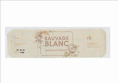 Redchurch Brewery Beer Label -Sauvage Blanc