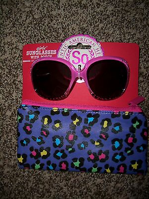 Girls Sunglasses With Pouch SO Authentic American Heritage NEW Retail $16