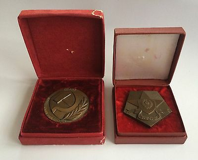 100% Original! Desk Medals 50 and 70 Years of MVD USSR
