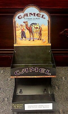 "Metal ""Camel"" Cigarettes Store Display Table or Wall 16 1/2"" x 6 3/4"" x 5"""