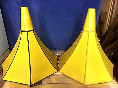 Pair Of Antique Vintage gramophone horn Funnel