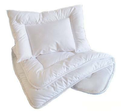 PILLOW + QUILT / DUVET Baby Filling Nursery Baby Bedding Set to Fit Cot / CotBed