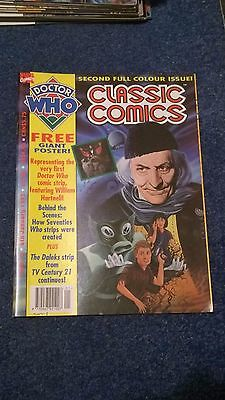 doctor who classic comics - ISSUE 2 (with free poster)