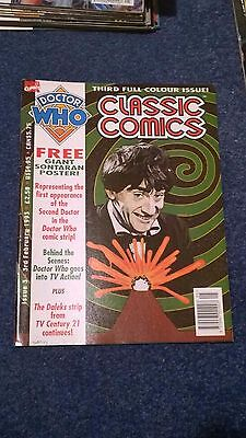 doctor who classic comics - ISSUE 3 (with free poster)