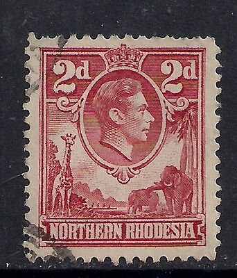 NORTHERN RHODESIA 1941 KGV1 2d  Red used SG 32 (595)