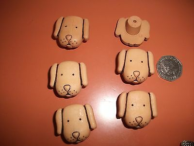 childrens novelty dog drawer handles x 6
