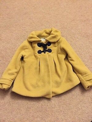 Girls Next mustard coloured coat, Age 2-3 years