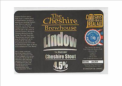 The Cheshire Brewhouse Brewery Beer Label - Lindow