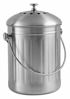Chef's Star Compost Bin 1 Gallon Stainless Steel