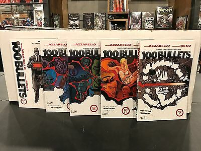 100 Bullets #1 2 3 4 5 Complete Set Graphic Novel Tpb Never Read Retails At $125