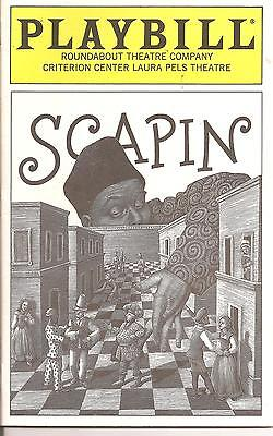 Scapin (1997) Playbill, Criterion Center Laura Pels Theatre -S -Bill Irwin