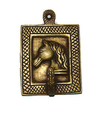 A Marvelous Brass made, An Old Indian HORSE FACE designed COAT HOOK from India