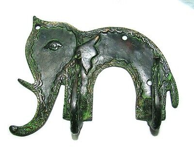 An Attractive & beautiful Elephant Designed COAT HOOK from India, Brass made
