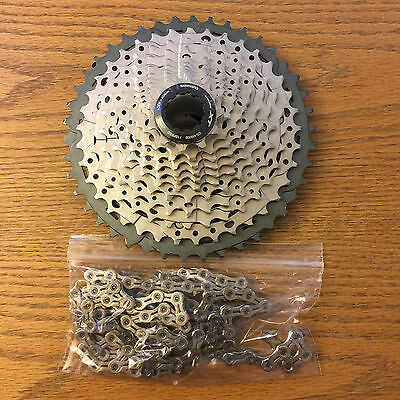 Shimano XT CS-M8000 Cassette & Kmc X11EL (NP) chain with Connecting link