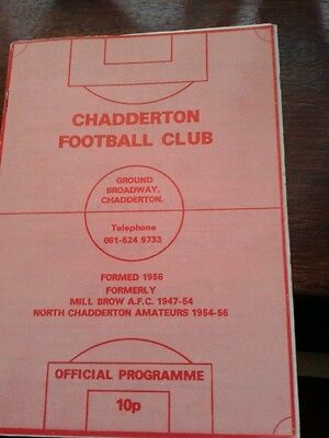 Chadderton FC v Oswestry Town FA Cup 1984
