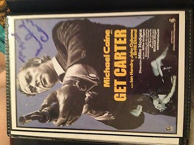 Michael Caine Signed Photo - Get Carter Postcard