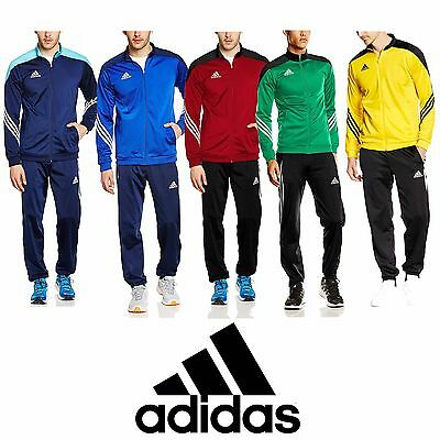Adidas Mens Tracksuit Full Zip Training Football Jogging Tops Pants Bottoms