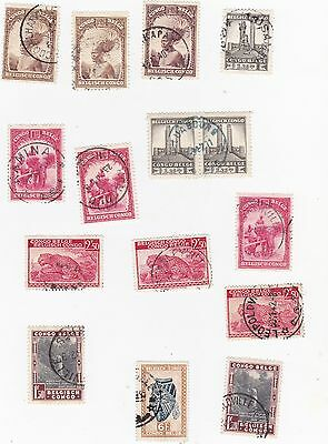 Belgian Congo--Small Collection Of Stamps