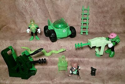 Fisher Price Imaginext DC Justice League Figure Green Lantern lot Rover Ch'p gun